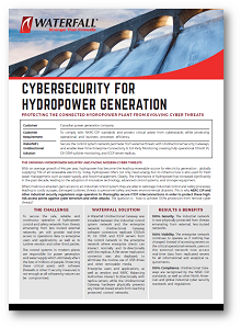 Cybersecurity for hydropower generation Use Case